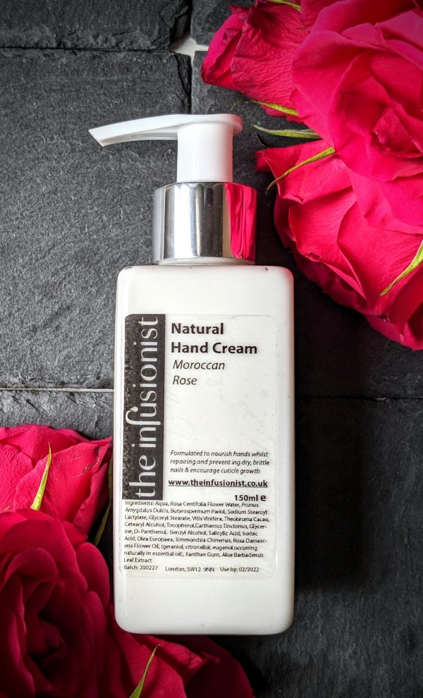 natural hand cream moroccan rose