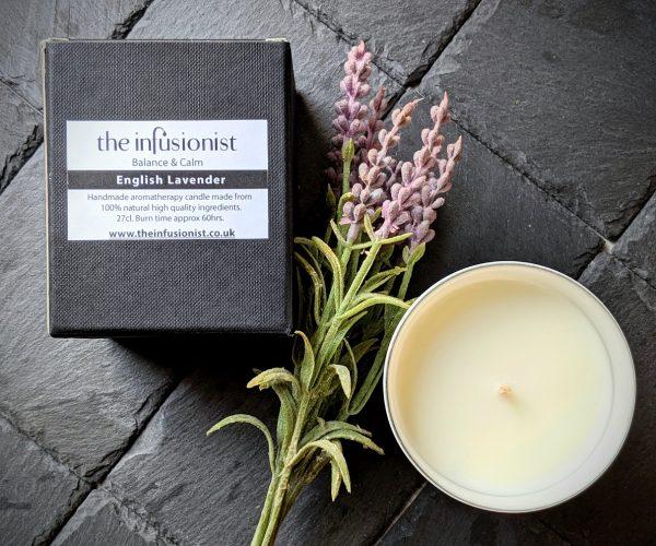 sleep aromatherapy candle lavender