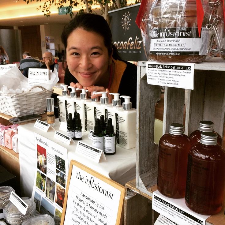 Skincare market stall